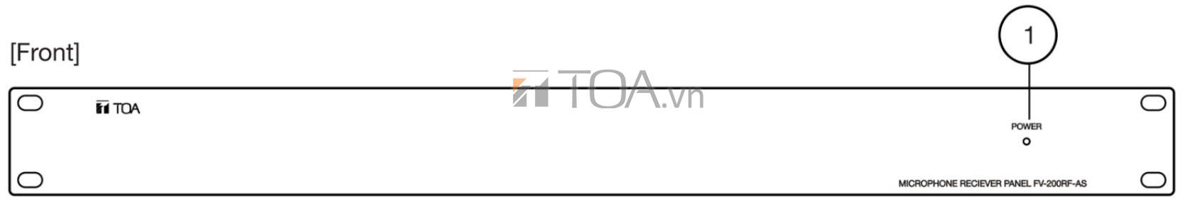 BỘ GIAO TIẾP MICRO CHỌN VÙNG TOA FV-200RF-AS, TOA FV-200RF-AS