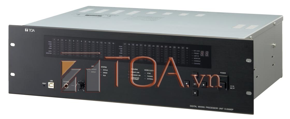 TOA D-2008SP CE : DIGITAL MIXING PROCESSOR UNIT