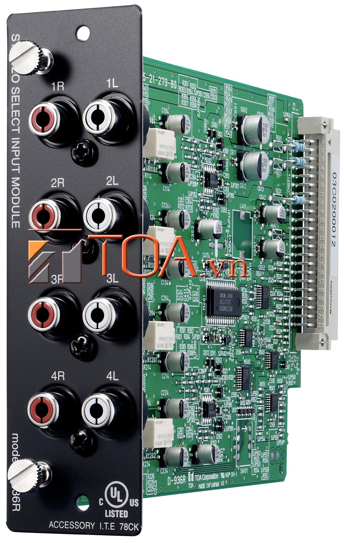 TOA D-971E : 4CH LINE OUTPUT MODULE (EURO), TOA D-971E