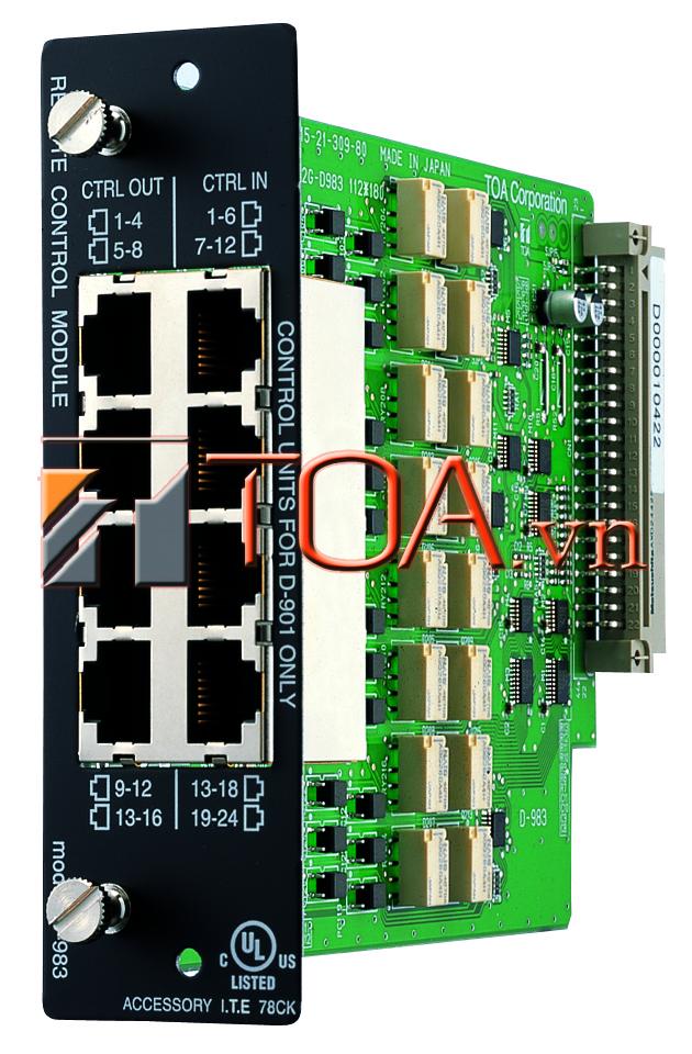 TOA D-983 : ROMOTE CONTROL MODULE, SẢN PHẨM TOA TOA D-983