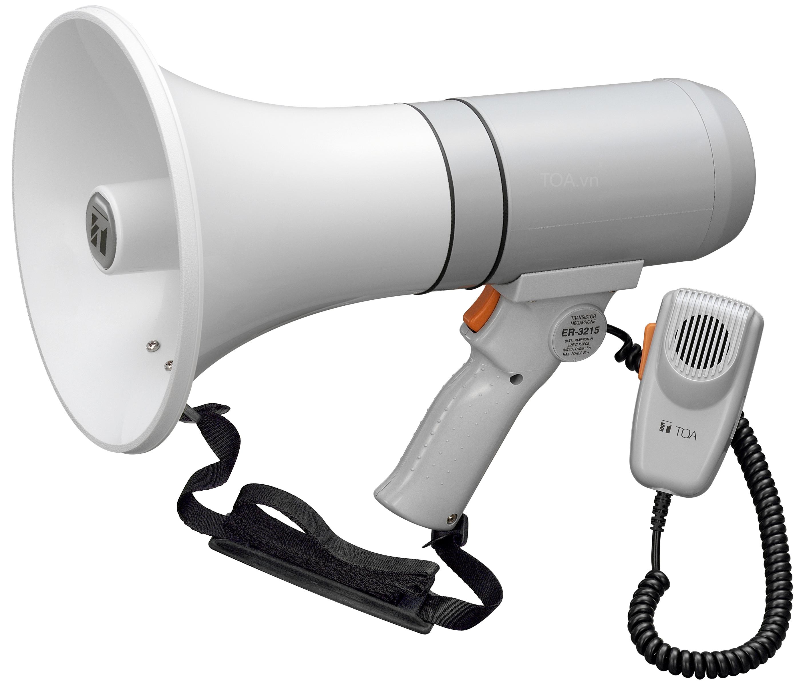 Megaphone kiểu cầm tay TOA ER-3215S, giá bán ER-3215S, megaphone cầm tay chính hãng TOA ER-3215S
