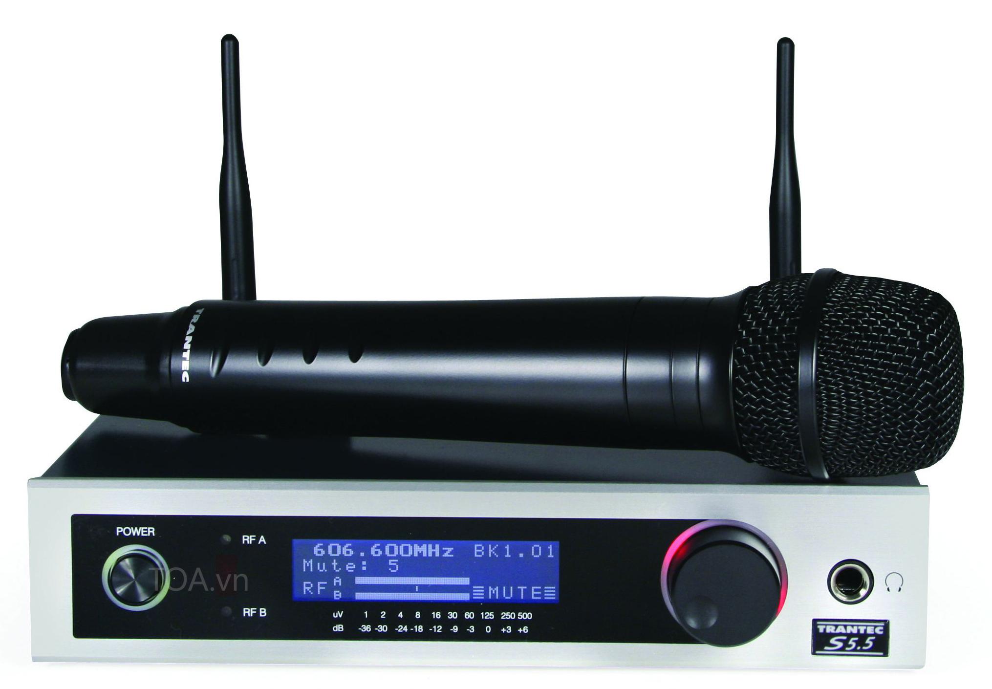 TOA S5.5-HD-A1S thu phát không dây, micro UHF dòng Trantec, mua bộ thu phát cầm tay TOA S5.5-HD-A1S, giá S5.5-HD