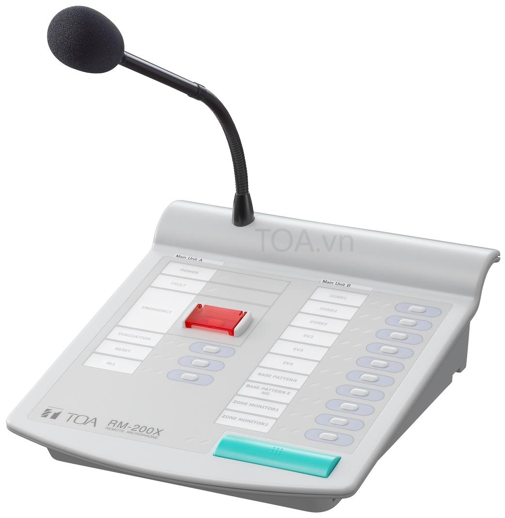 Micro thông báo chọn vùng TOA RM-200X