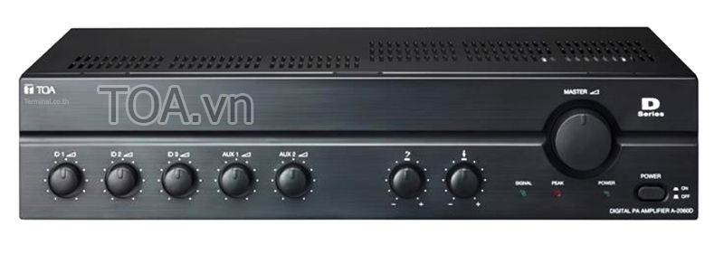 Tăng âm số liền mixer TOA A-2120D, âm ly TOA A-2120D-AS, giá amly TOA A-2120D