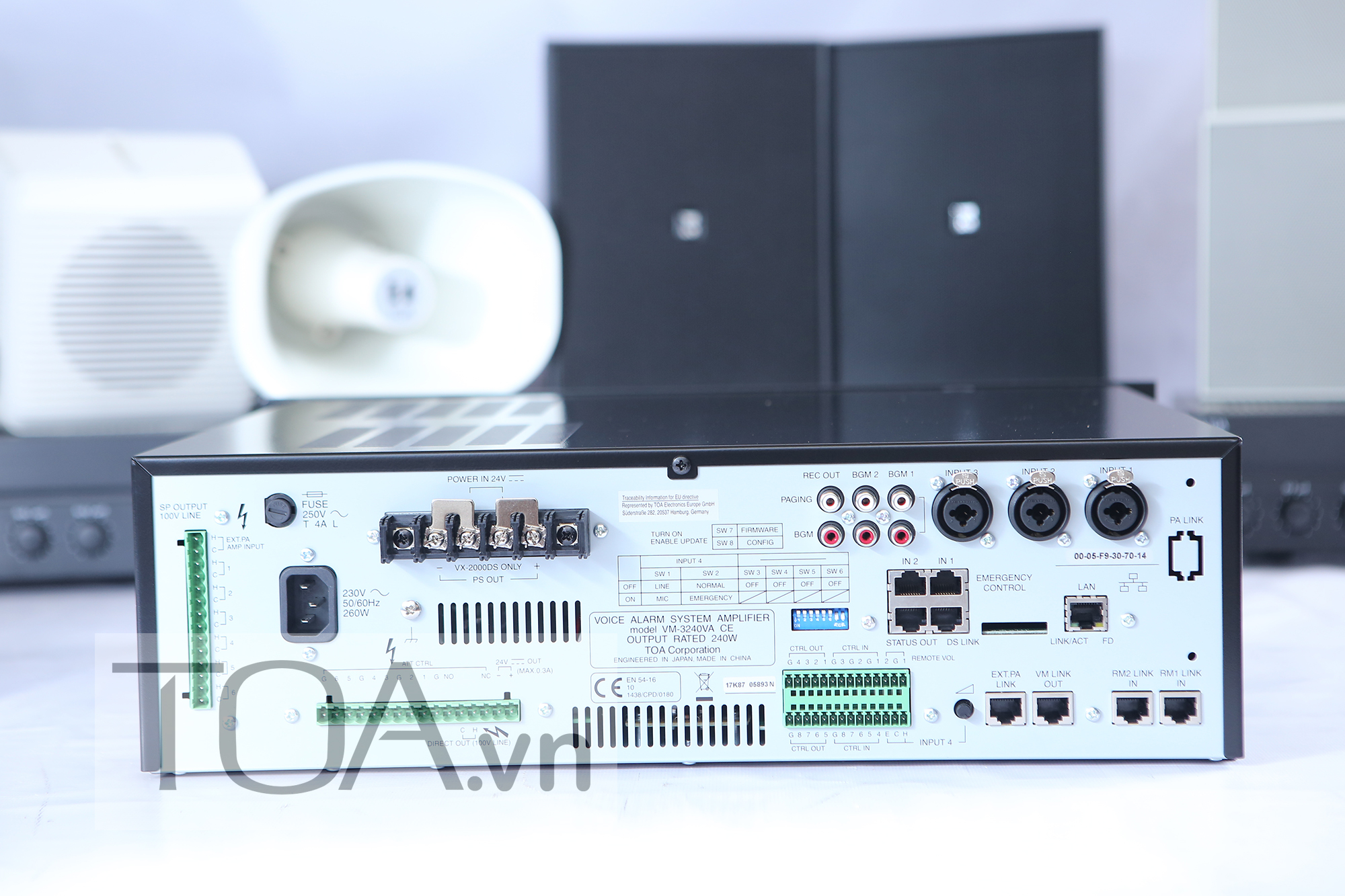 AMLY 240W TOA VM-3240VA, AMPLI 240W TOA VM-3240VA, TOA VM-3240VA